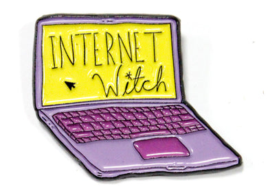 Internet Witch Enamel Pin