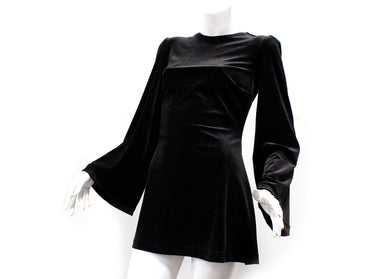 Witchy Dress in Black Velvet