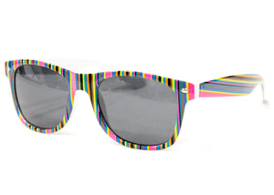 Prism Sunglasses in Multi Bright Stripe