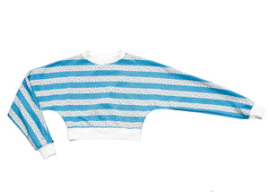 Praxis Long Sleeve Top In Blue Music Stripe