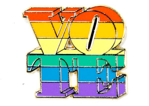 Rainbow Vote Enamel Pin