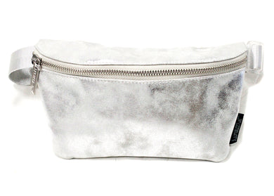 Ultra Slim Fanny Pack In Lux Duster Silver