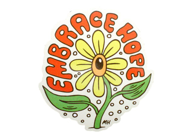Embrace Hope Flower Sticker