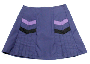 Chevron Pocket Miniskirt In Dusk