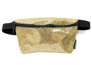 Ultra Slim Fanny Pack In Glam Gold