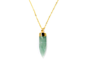 Jade Point Electroplated Necklace