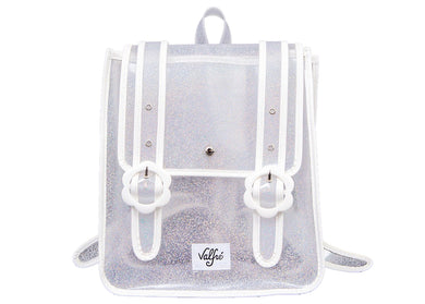 Daisy Backpack in Clear Glitter