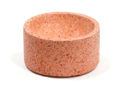 Round Incense Holder in Coral Terrazzo