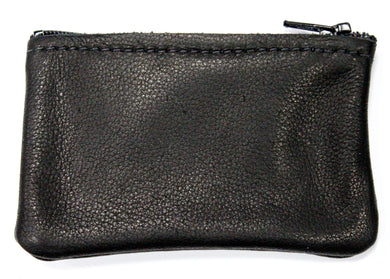 Small Leather Coin Purse in Black
