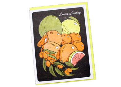 Citrus Season's Greetings Card