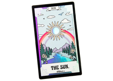 The Sun Tarot Card Holographic Sticker