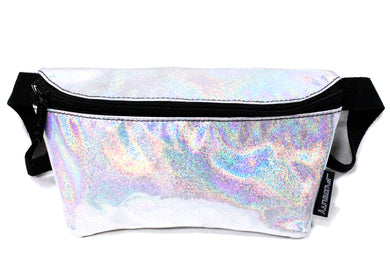 Ultra Slim Fanny Pack In Laser Silver