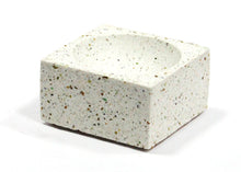 Square Incense Holder in White Terrazzo