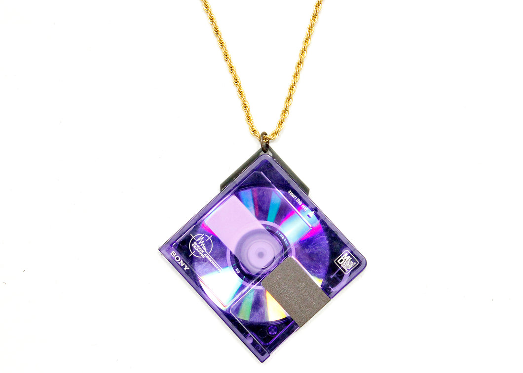 MiniDisc Necklace in Purple