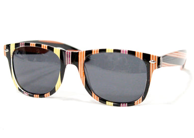 Prism Sunglasses in Brown Black Yellow Stripe