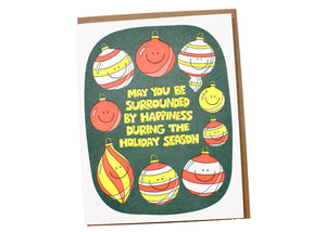 Surrounded By Happy Ornaments Card