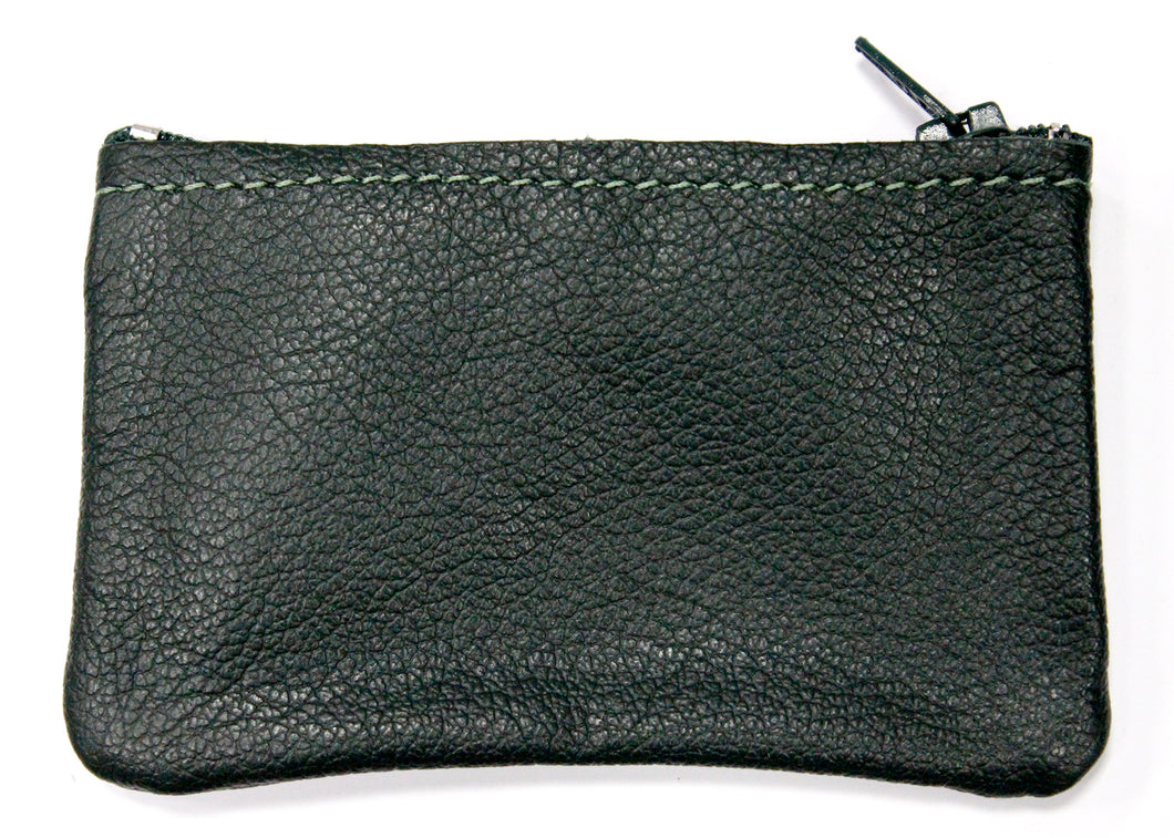 Small Leather Coin Purse in Green