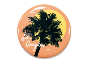 Los Angeles Coral Palm Tree & Sun Magnet