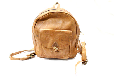 Leather Baby Backpack