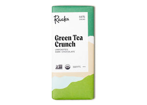 Green Tea Crunch 66% Dark Chocolate Bar
