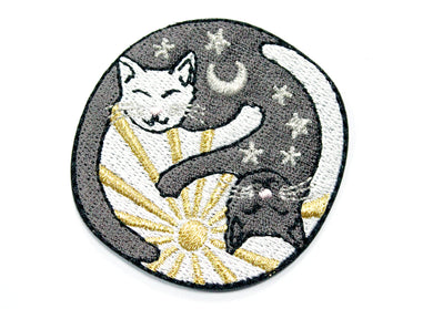 Yin Yang Sun & Moon Cuddly Cats Patch