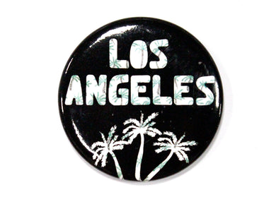 Los Angeles Black Palm Trees Magnet