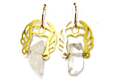 She-Ra Warrior Earrings in Clear Quartz