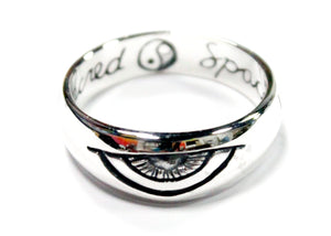 Third Eye Ring in Sterling Silver