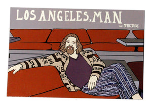 "The Dude ""Los Angeles, Man"" Postcard"
