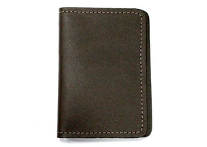Leather ID Case in Dark Brown
