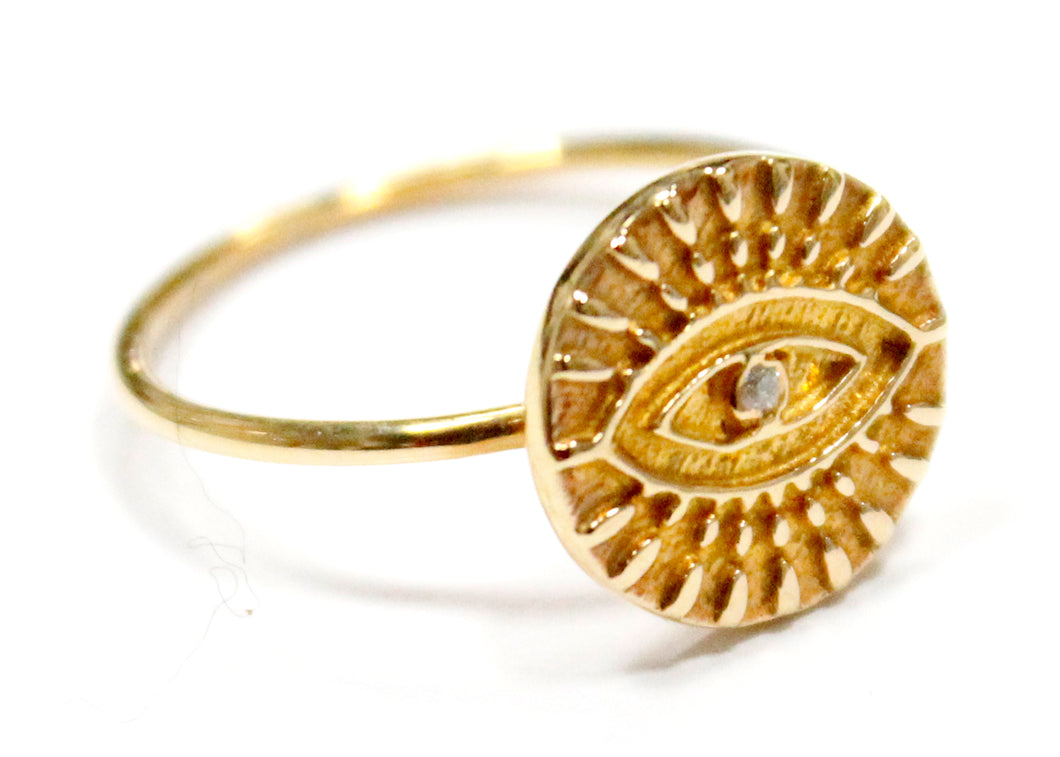 Eye Ring In Gold