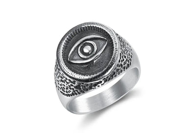 Masonic All Seeing Eye Ring in Stainless Steel