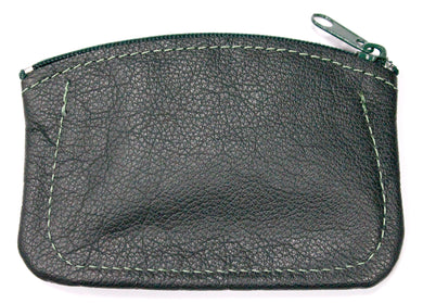 Leather Coin Purse in Green