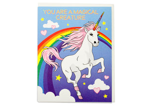 Magical Creature Unicorn Birthday Card