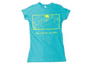 Raunchy Magritte Tee - Gay Green WS
