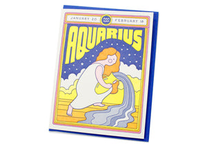 Aquarius Birthday Card
