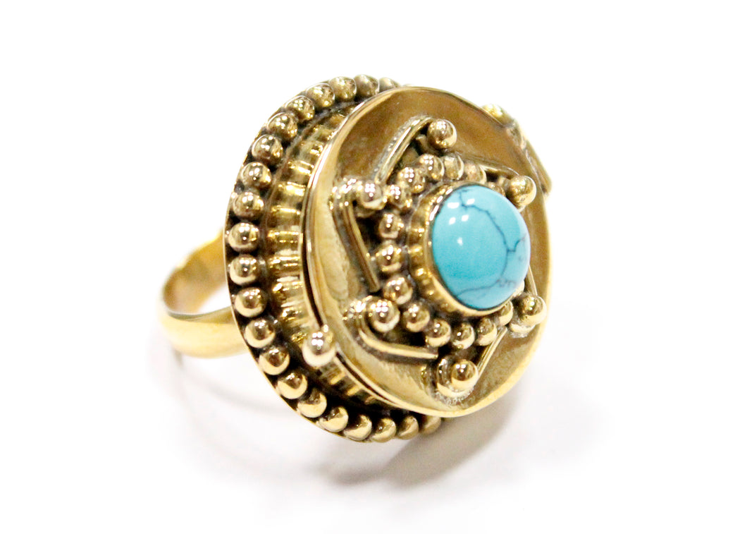 Poison Ring In Brass