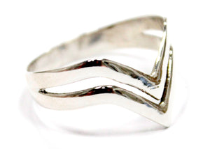Chevron Ring In Sterling Silver