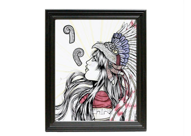 Eagle Warrior Art Print