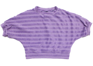 Praxis Top In Ube Terry Stripe