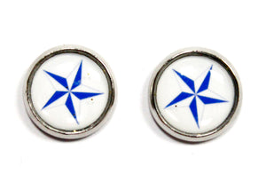 Nautical Star Round Stud Earrings