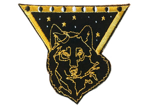 Black Wolf Iron-On Patch