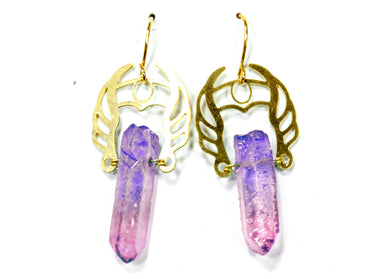 She-Ra Warrior Earrings in Indigo-Orchid Ombre