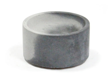 Round Incense Holder in Black & Grey Marble