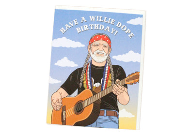 A Willie Dope Birthday Card