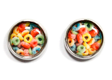Cereal Round Stud Earrings
