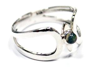 Eye Of The Beholder Ring In Sterling Silver With Labradorite