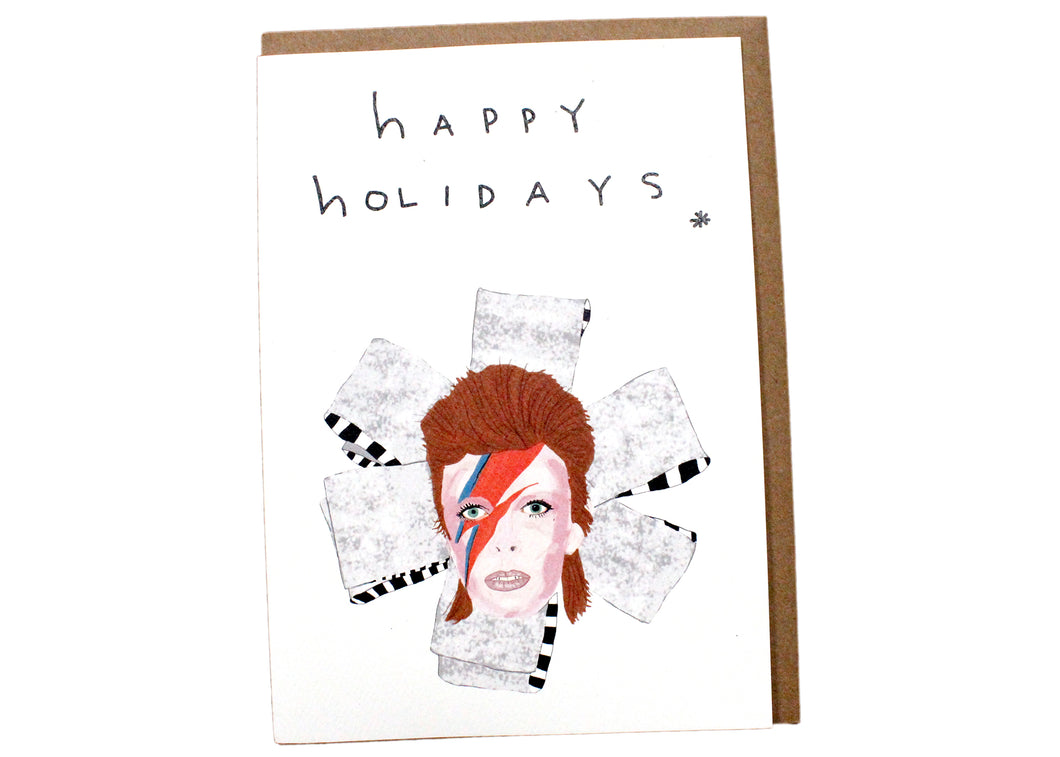Happy Holidays Bowie Card