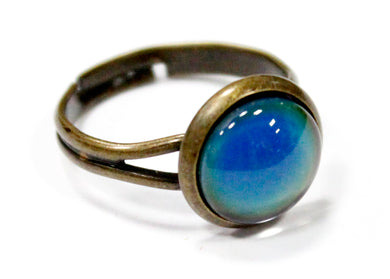 Mood Stone Ring in Antique Brass