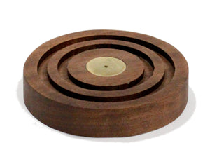 Concentric Incense Holder in Walnut